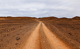 road in the desert Sahara