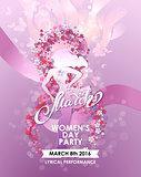 Party flyer for International Women Day celebration.