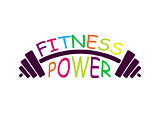 Stock vector fitness power logo