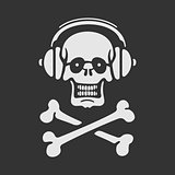 Vector Symbol Skull in Headphones