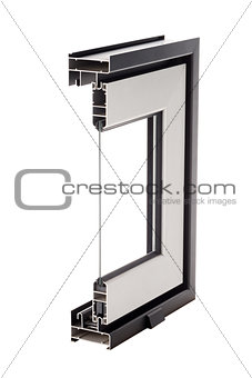 Aluminium window sample