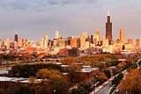 Chicago autumn panorama
