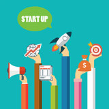 start up business concept flat design