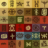 Tribal ethnic symbols background
