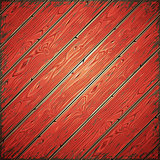 Red Old Wooden Painted Wall