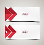 Vector modern banners