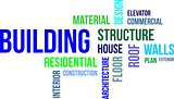 word cloud - building