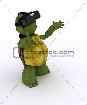 tortoise with VR headset