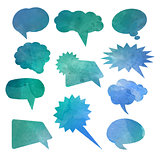 watercolour speech bubbles 0701