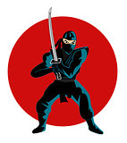Illustration of ninja