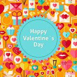 Flat Vector Happy Valentine Day Background