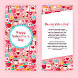 Flyer Template of Happy  Valentine Day Objects and Elements