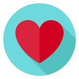 Love Heart Shape Circle Icon