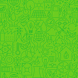 Thin Ecology Environment Line Seamless Green Pattern