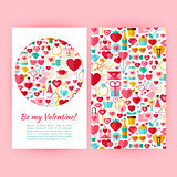 Vector Be My Valentine Banners Set Template