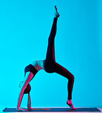 woman yoga exercices