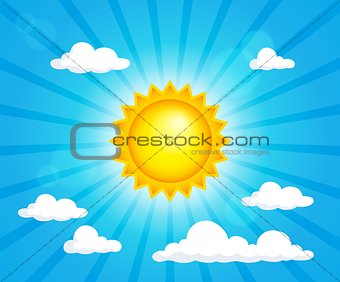 Abstract sun theme image 8
