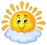 Cheerful sun theme image 1