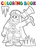 Coloring book dwarf warrior theme 1