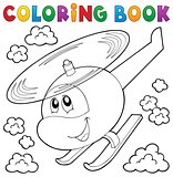Coloring book helicopter theme 1