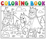 Coloring book king on horse theme 2