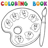 Coloring book paint palette theme 2