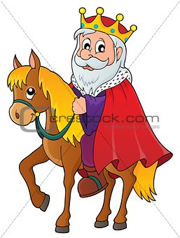King on horse theme image 1