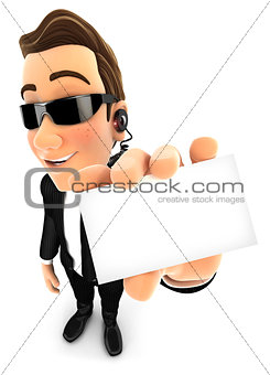 3d security agent holding company card