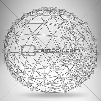 Abstract Creative concept vector background of geometric shapes - ball. Design style letterhead and brochure for business. EPS 10 vector illustration.