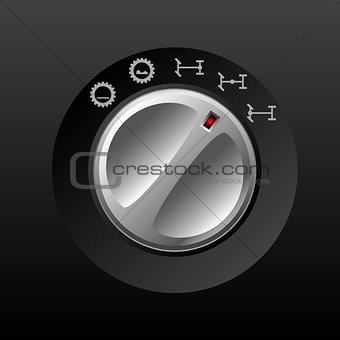 Analog transmission differential knob