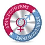 Pink blue adult content badge