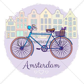 Classic Bike Illustration