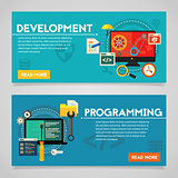 Programming and Graphic Design Concept Banners