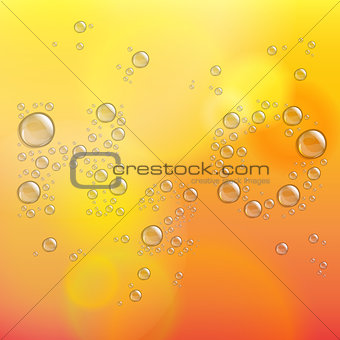 Abstract defocused background with transparent water drops
