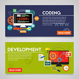 Development and Coding Concept Banners