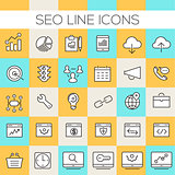 Inline SEO Icons Collection