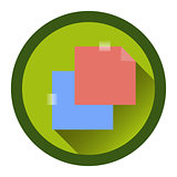 modern flat icon with the passage of tape. stickers and shadow