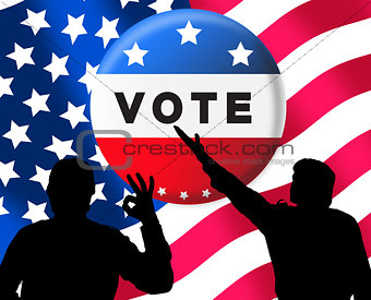 American presidential elections banner