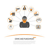 Theft Crime and Punishment Concept