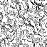 Seamless herbal pattern