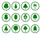 green tree set