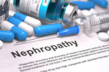Nephropathy Diagnosis. Medical Concept.