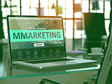 Laptop Screen with MMarketing Concept.