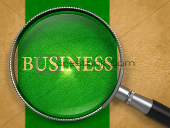Business through Magnifying Glass.