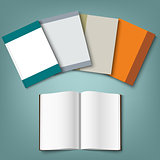 Collection of colorful books template