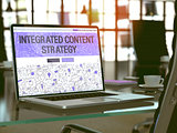 Laptop Screen with Integrated Content Strategy Concept.