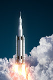 Space Launch System Takes Off In The Clouds