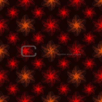 Abstract spiral pattern on dark background