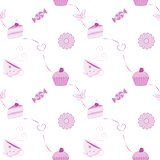 Vector seamless dessert pattern