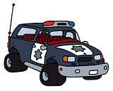 Funny big police car